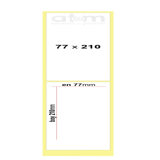 77mm x 210mm Kuşe Etiket (Sticker)
