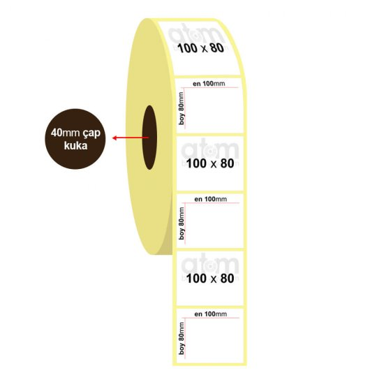 100mm x 80mm Vellum Etiket (Sticker)