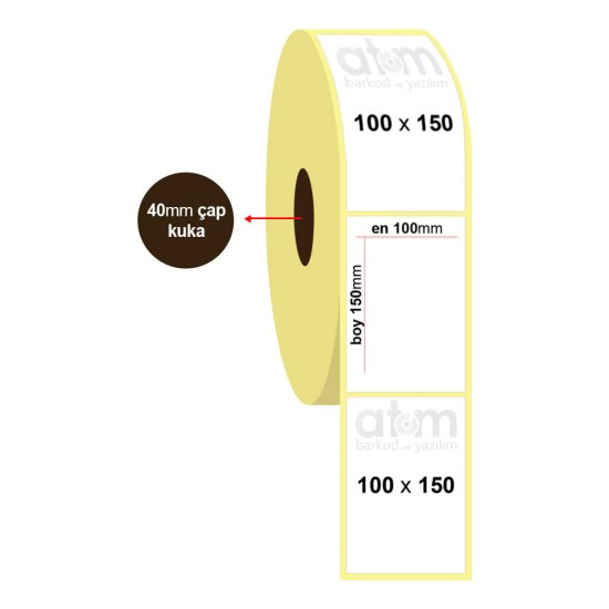 100mm x 150mm Termal Etiket (Sticker)