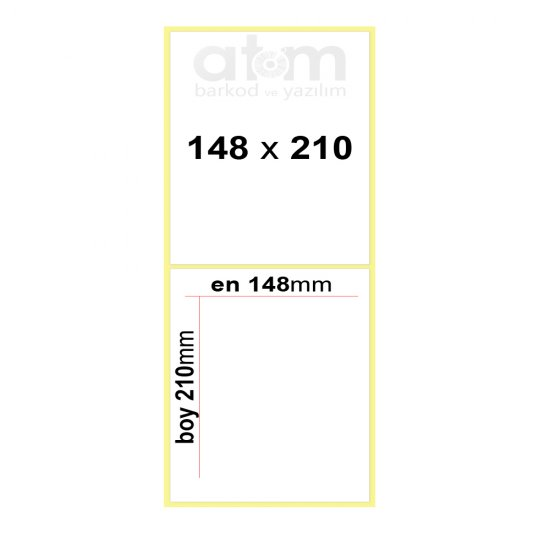148mm x 210mm Kuşe Etiket (Sticker)