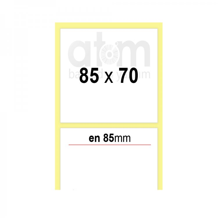 85mm x 70mm PP Opak Etiket (Sticker)