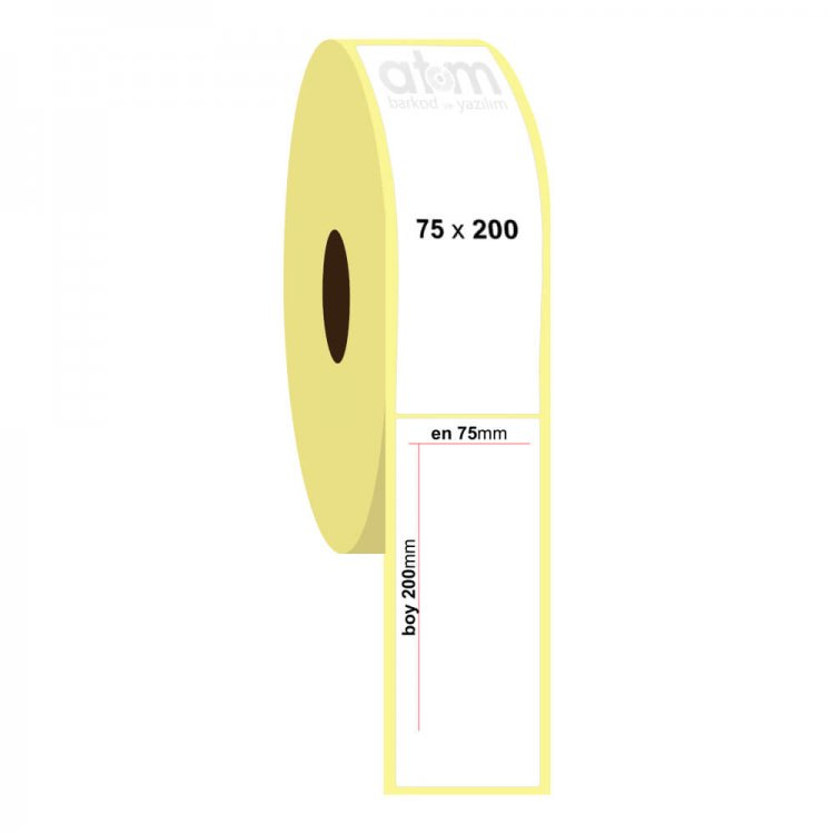 75mm x 200mm Eco Termal Etiket (Sticker)