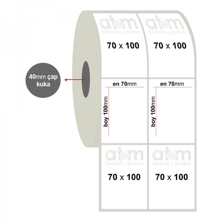 70mm x 100mm 2'li Fastyre Etiket(Sticker)